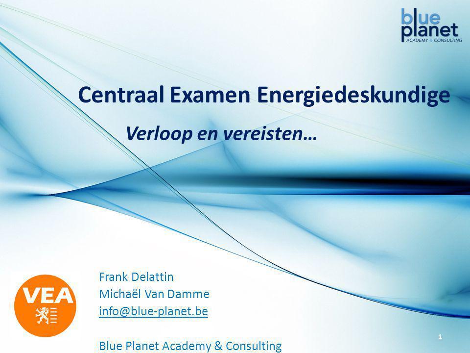 Centraal Examen Energiedeskundige