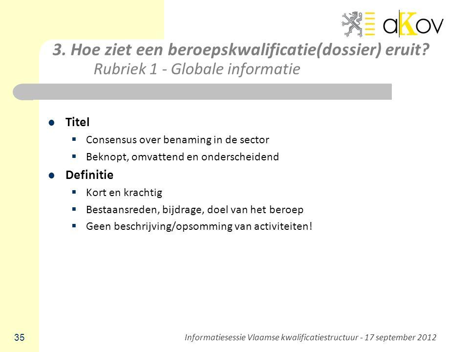 Informatiesessie Vlaamse kwalificatiestructuur - 17 september 2012