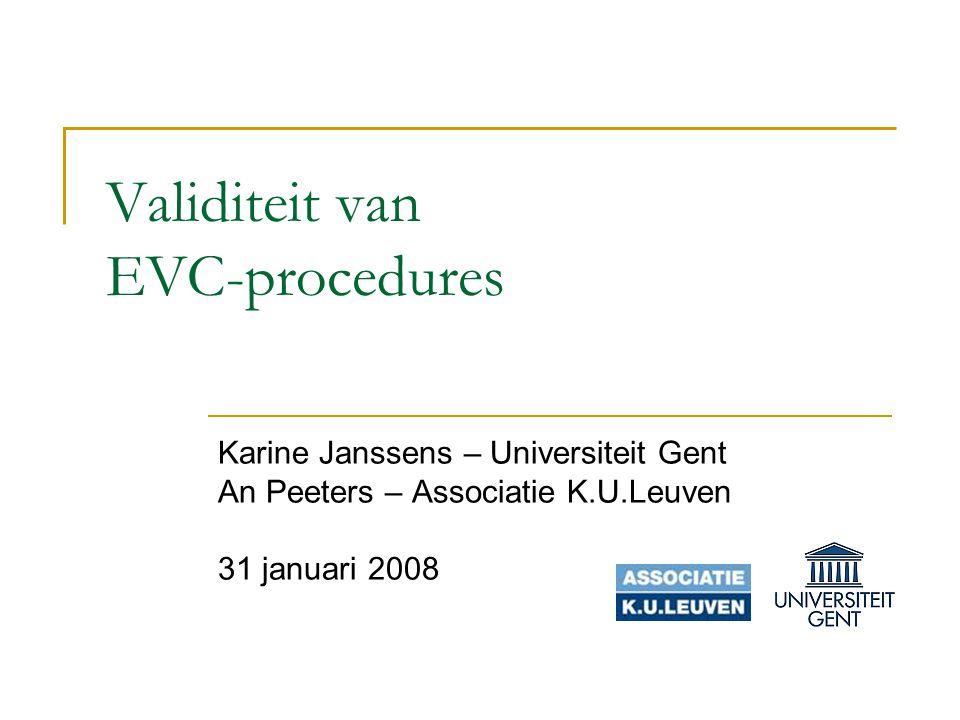 Validiteit van EVC-procedures