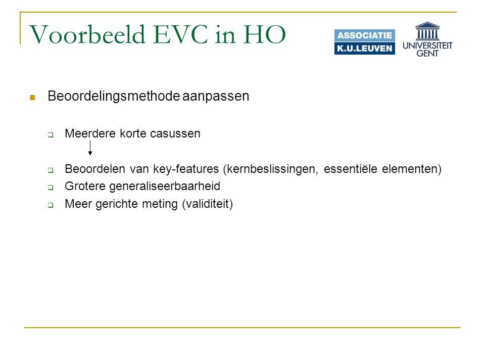 Voorbeeld EVC in HO Beoordelingsmethode aanpassen