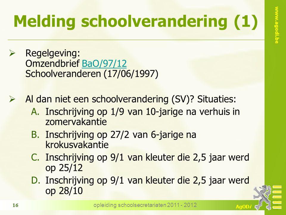 Melding schoolverandering (1)