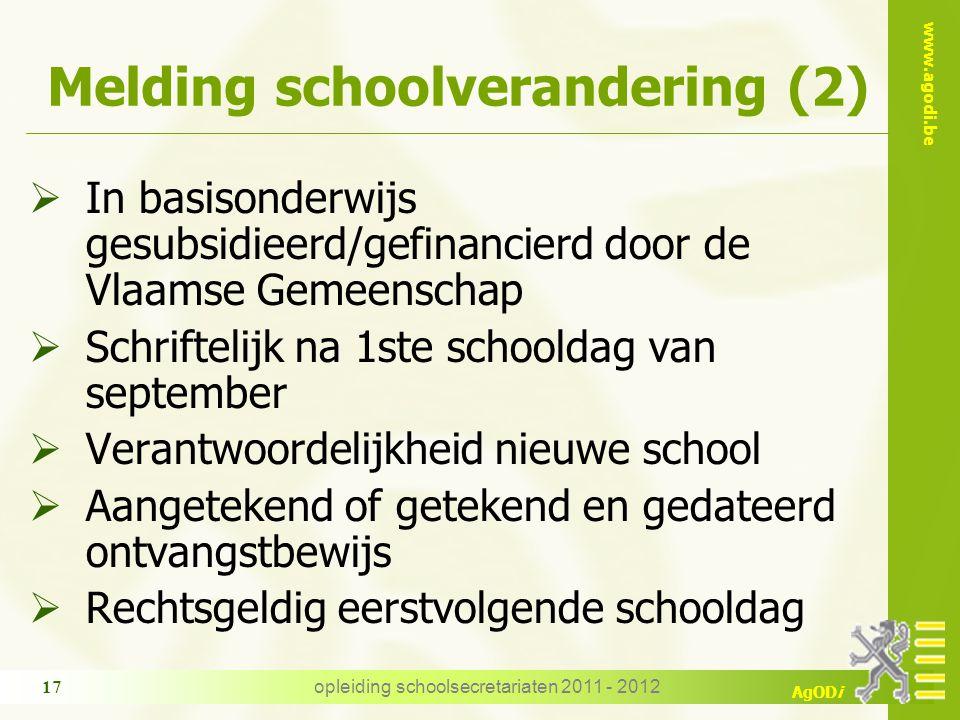 Melding schoolverandering (2)