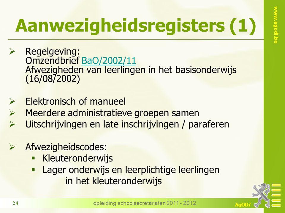 Aanwezigheidsregisters (1)
