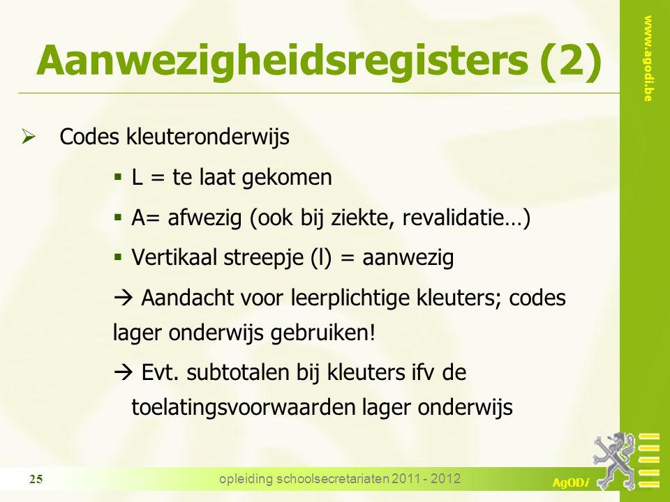 Aanwezigheidsregisters (2)