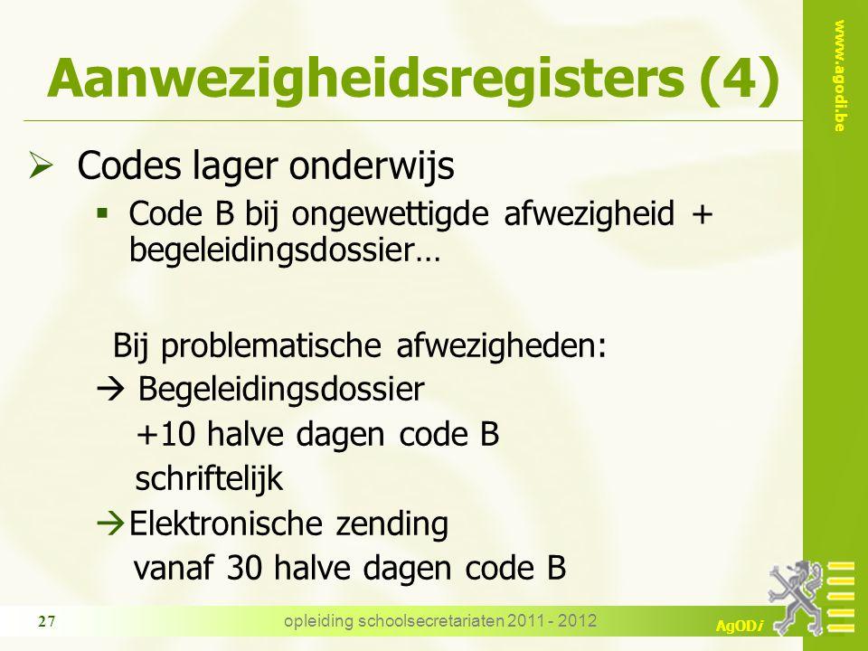 Aanwezigheidsregisters (4)