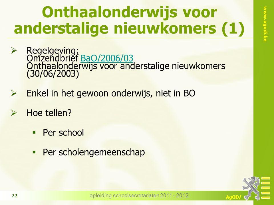 Onthaalonderwijs voor anderstalige nieuwkomers (1)