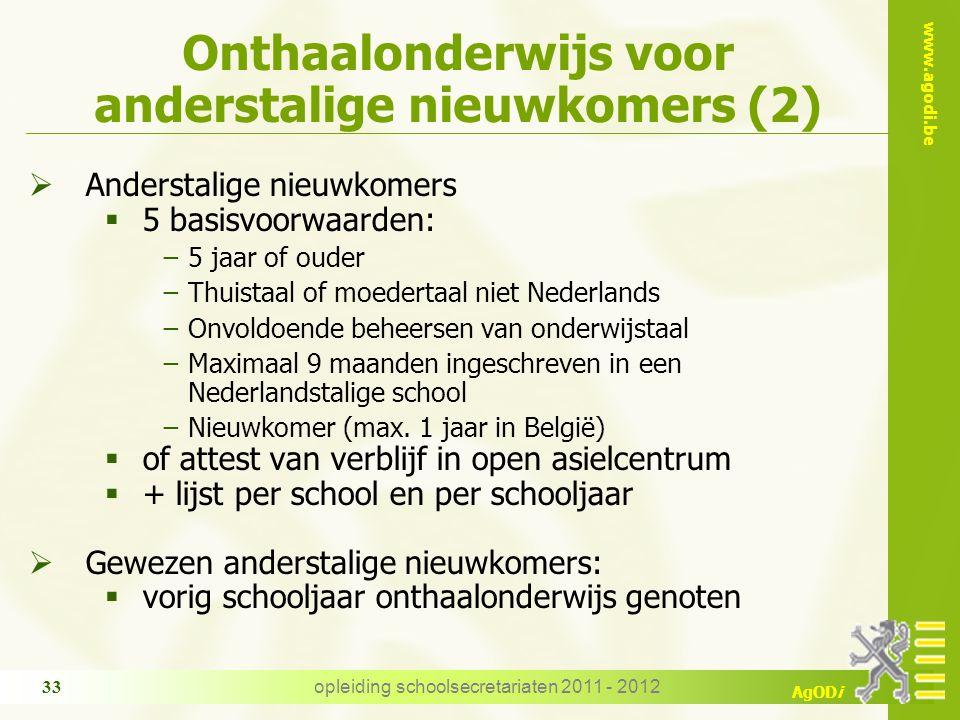 Onthaalonderwijs voor anderstalige nieuwkomers (2)