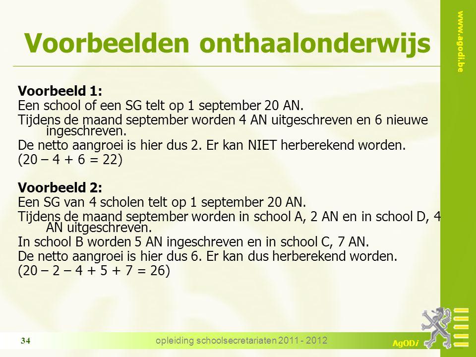 Voorbeelden onthaalonderwijs