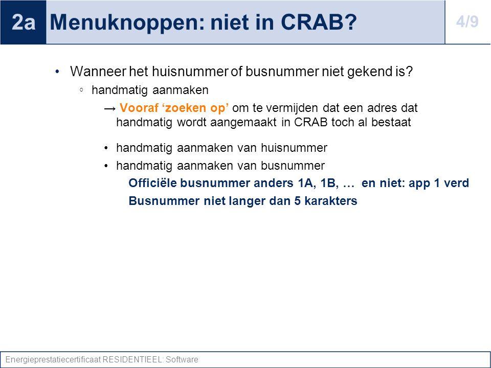 Menuknoppen: niet in CRAB