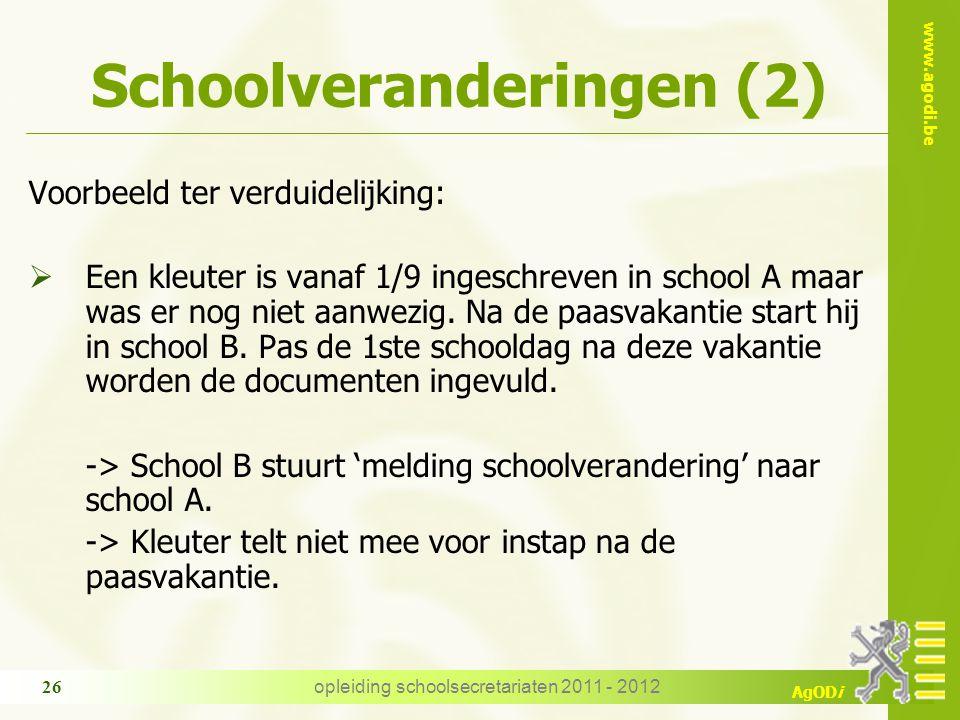 Schoolveranderingen (2)