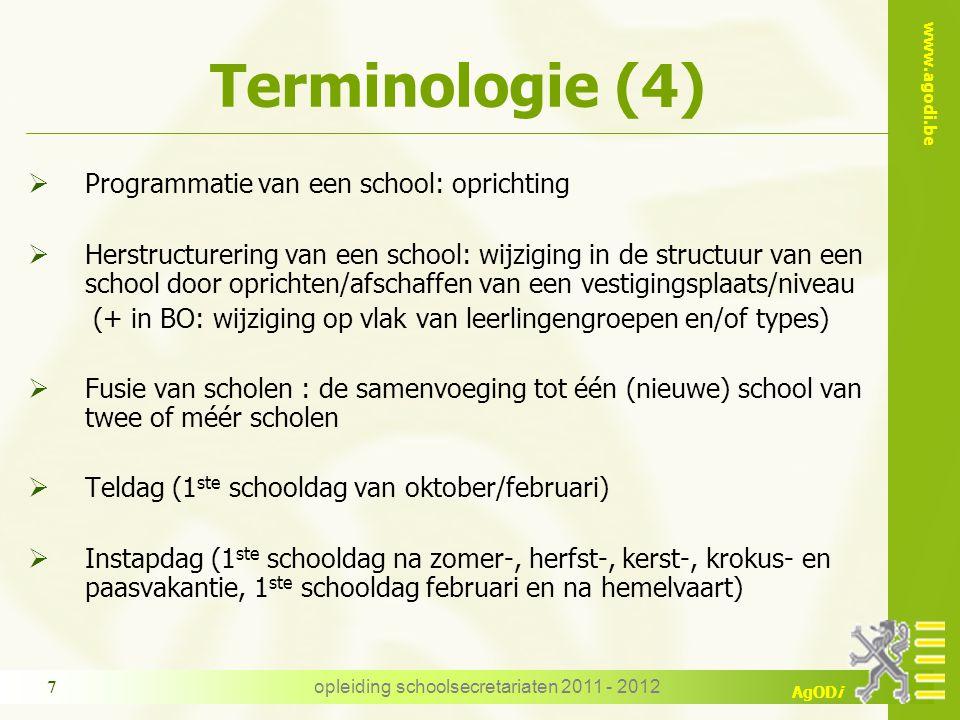 opleiding schoolsecretariaten 2011 - 2012