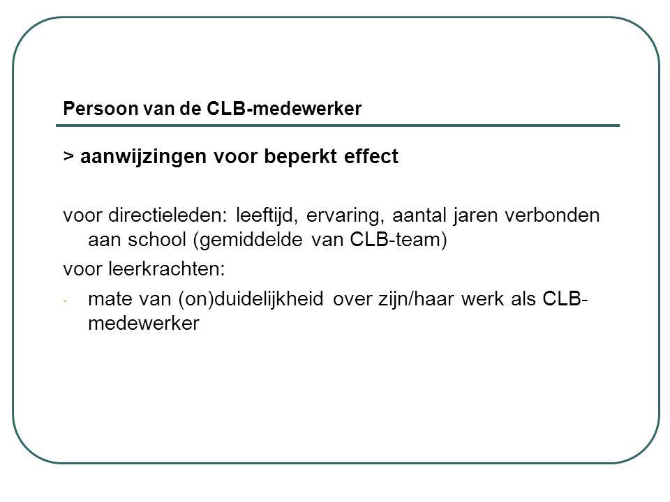 Persoon van de CLB-medewerker