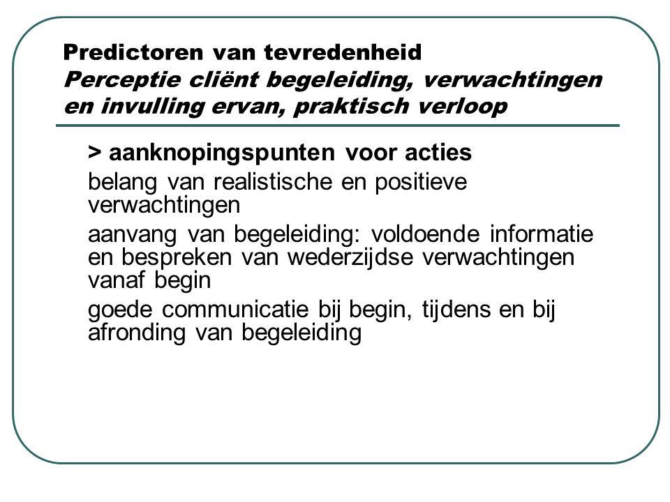 > aanknopingspunten voor acties