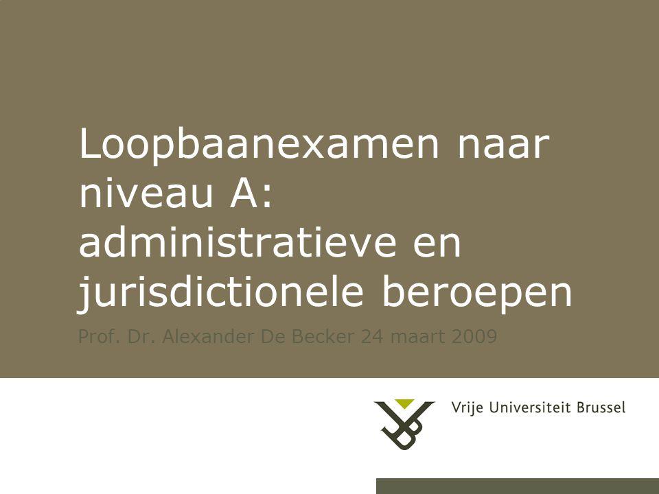 Prof. Dr. Alexander De Becker 24 maart 2009