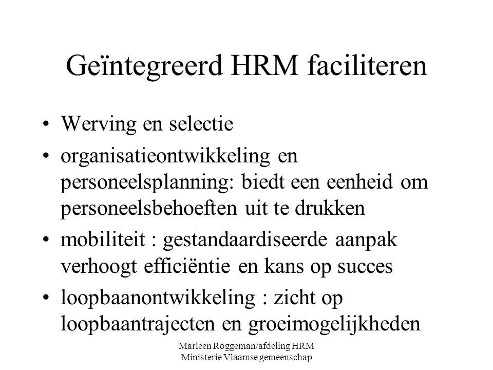 Geïntegreerd HRM faciliteren