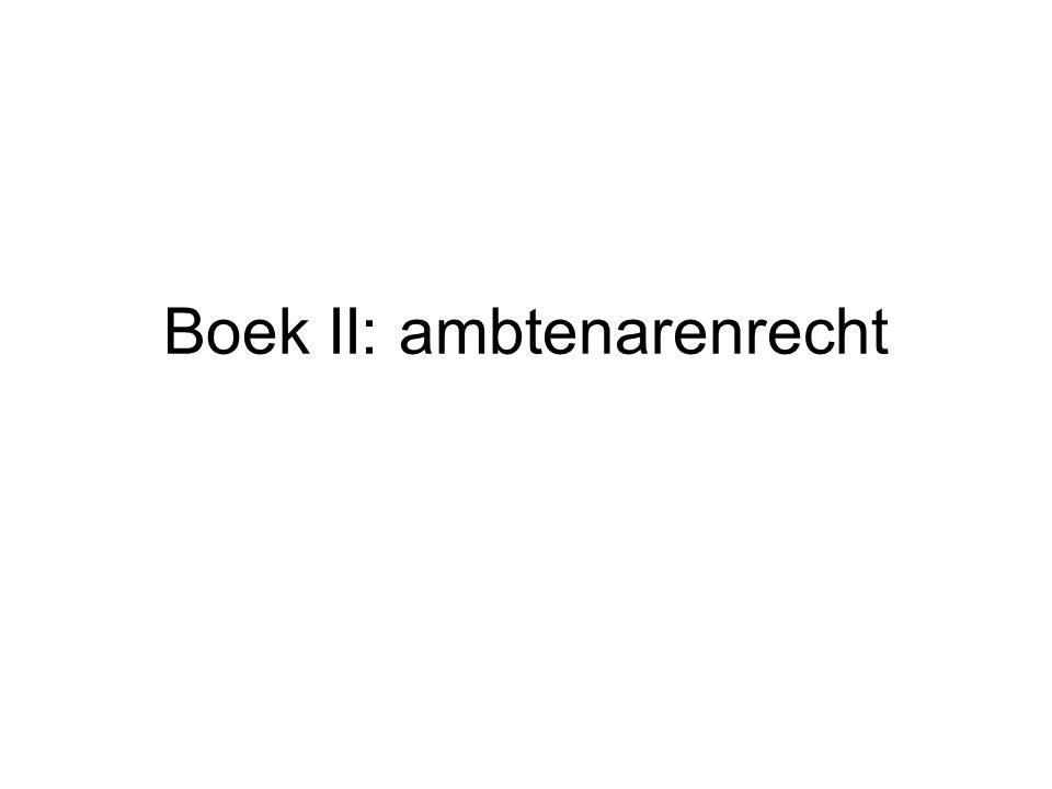 Boek II: ambtenarenrecht