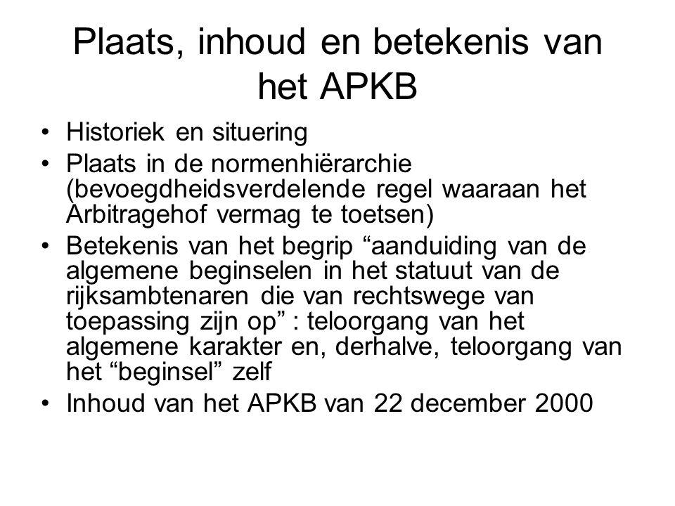 Plaats, inhoud en betekenis van het APKB