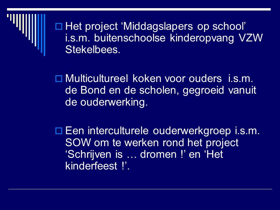 Het project 'Middagslapers op school' i. s. m