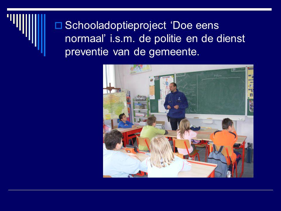 Schooladoptieproject 'Doe eens normaal' i. s. m