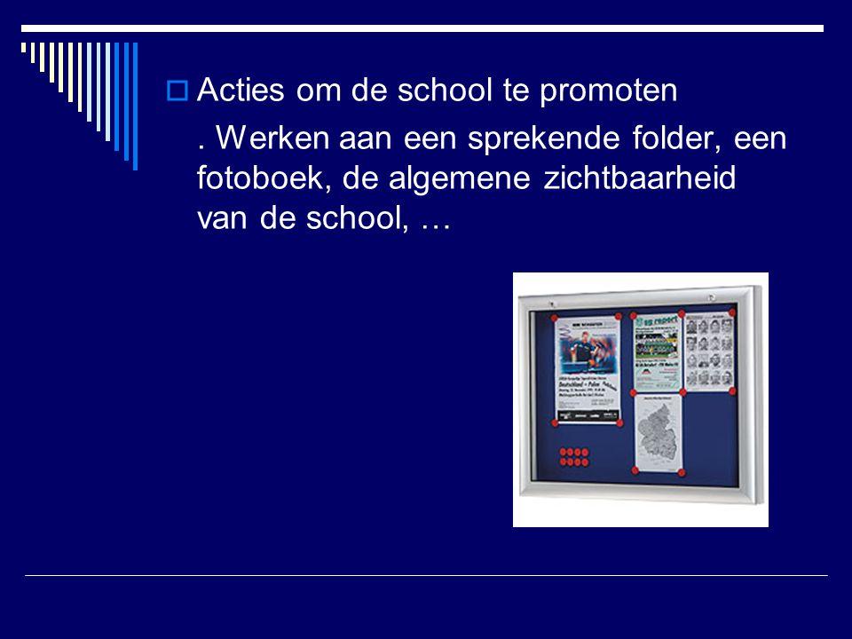 Acties om de school te promoten