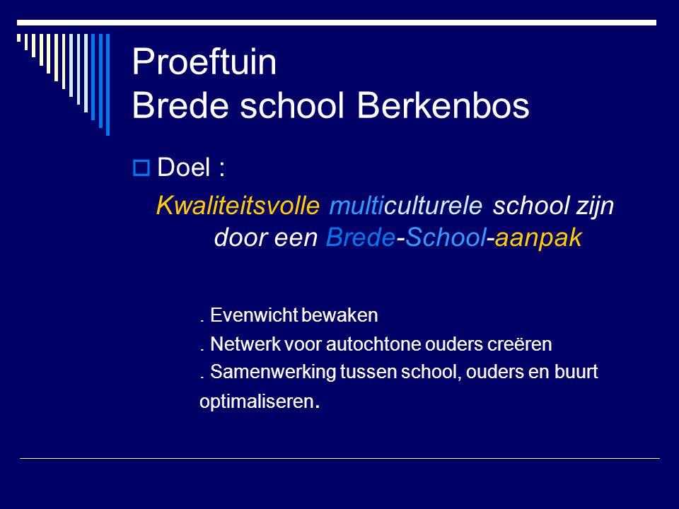 Proeftuin Brede school Berkenbos