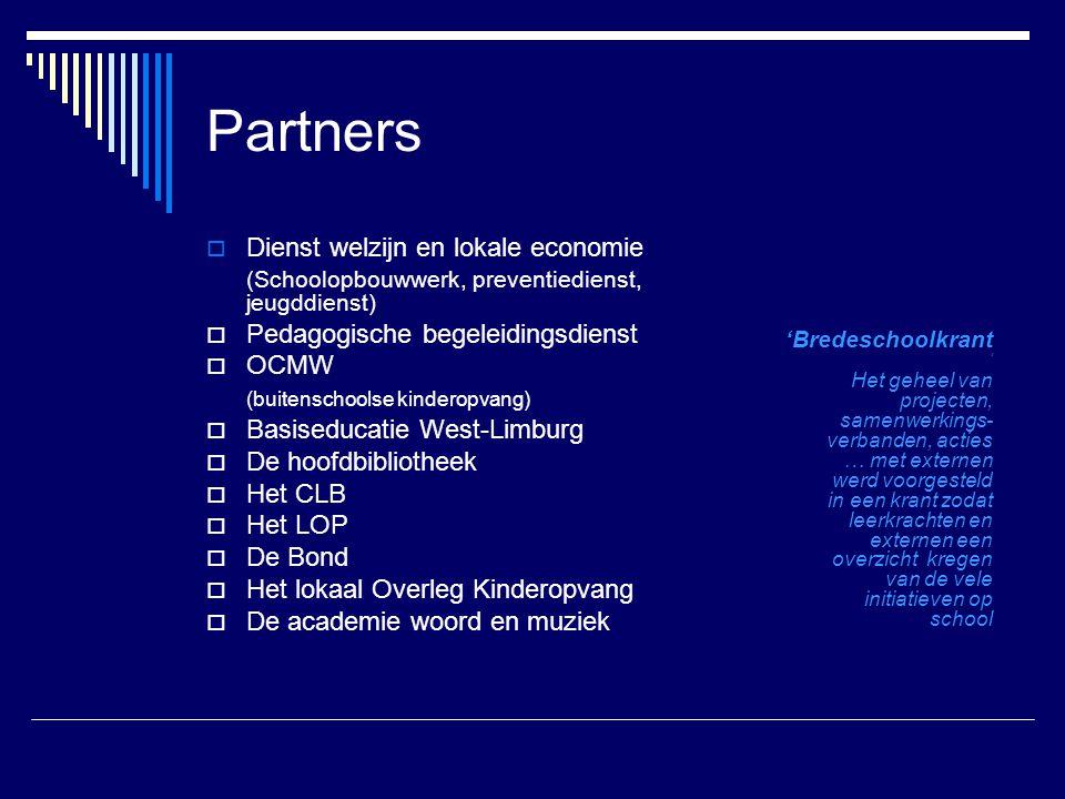 Partners Dienst welzijn en lokale economie