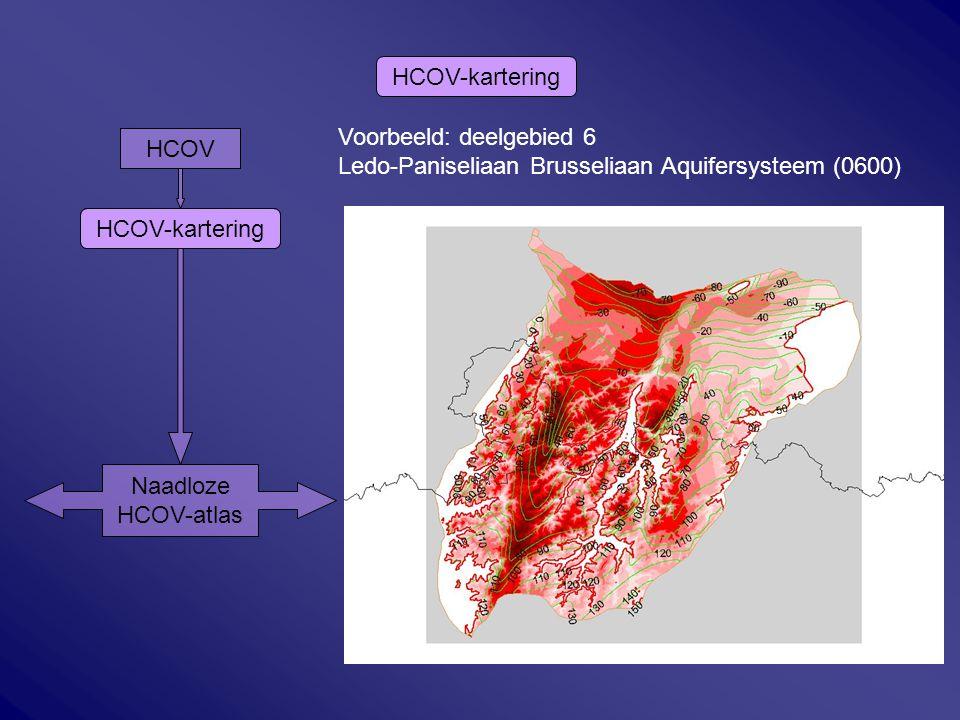 HCOV-kartering Voorbeeld: deelgebied 6. Ledo-Paniseliaan Brusseliaan Aquifersysteem (0600) HCOV. HCOV-kartering.