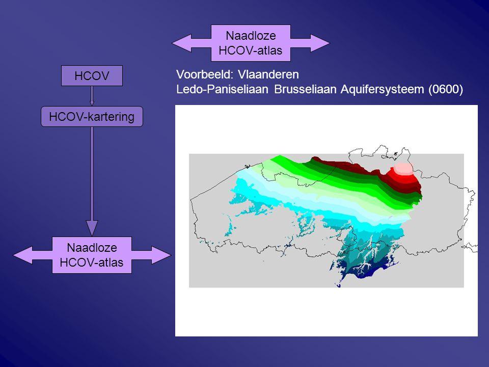 Naadloze HCOV-atlas. Voorbeeld: Vlaanderen. Ledo-Paniseliaan Brusseliaan Aquifersysteem (0600) HCOV.