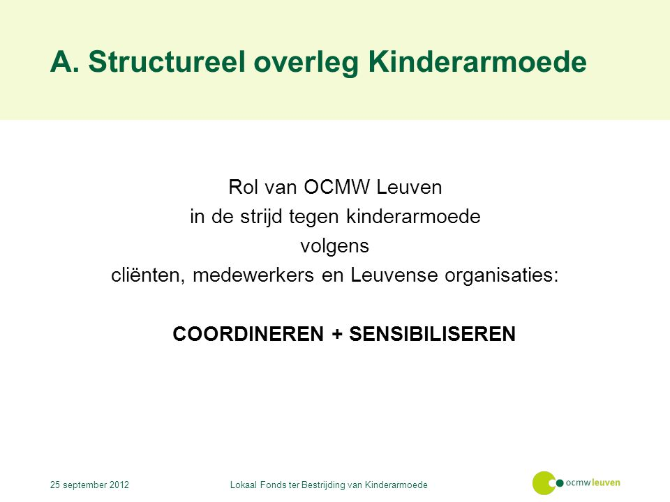 A. Structureel overleg Kinderarmoede