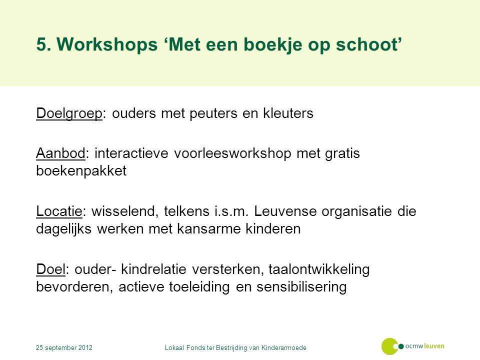 5. Workshops 'Met een boekje op schoot'