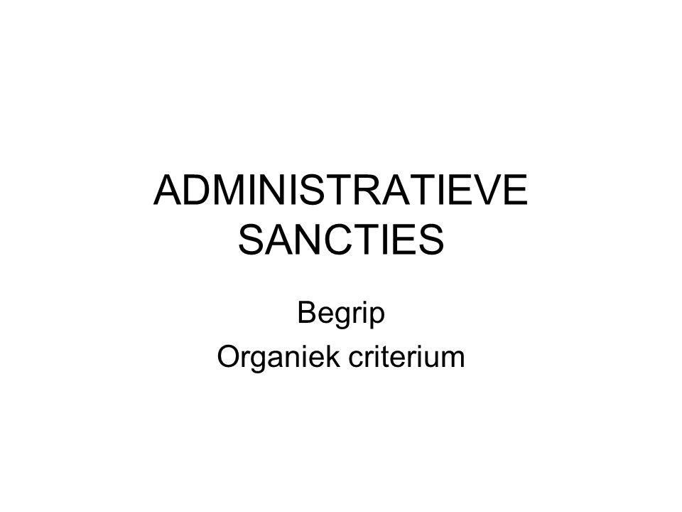 ADMINISTRATIEVE SANCTIES