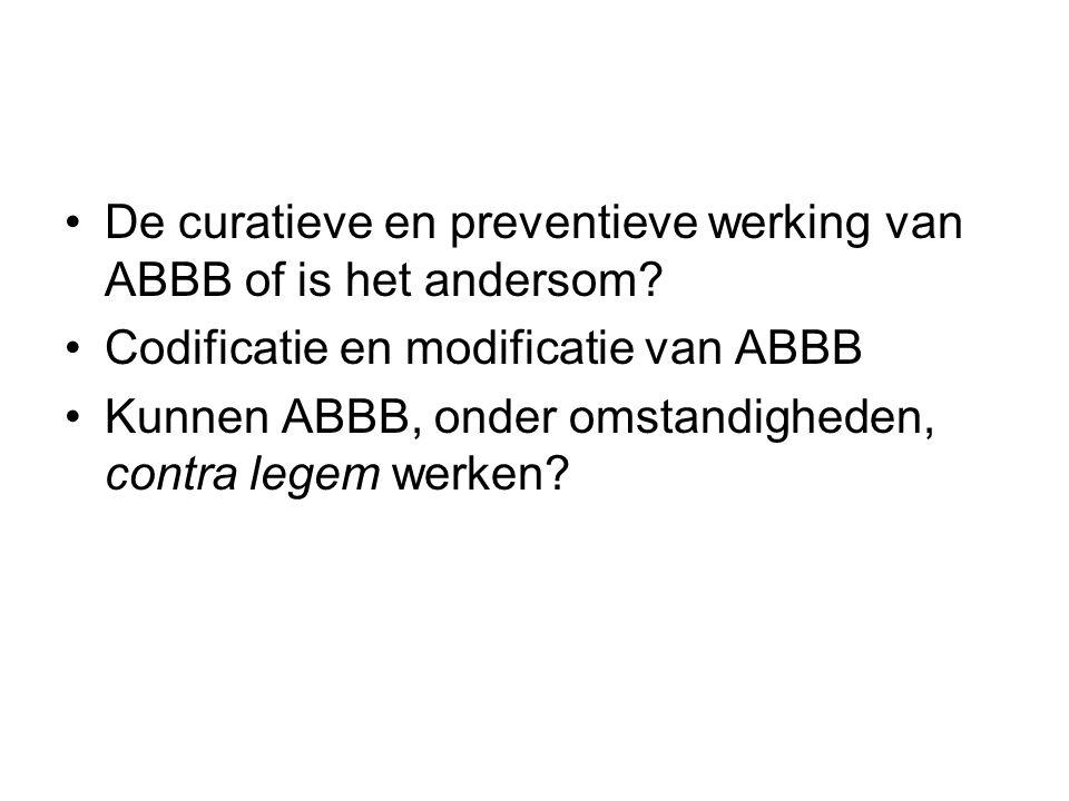 De curatieve en preventieve werking van ABBB of is het andersom