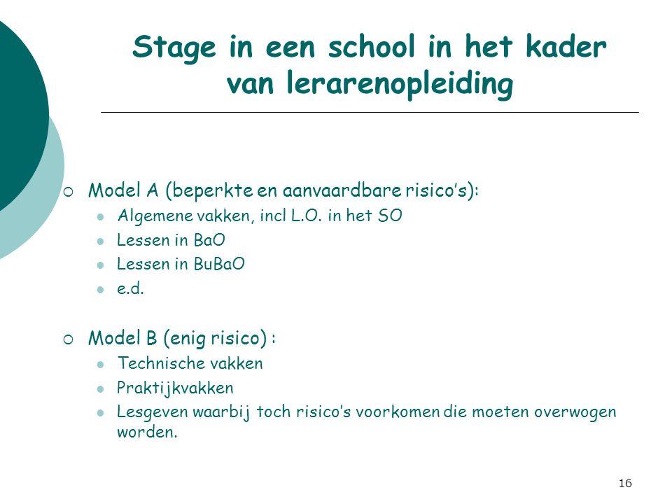 Stage in een school in het kader van lerarenopleiding