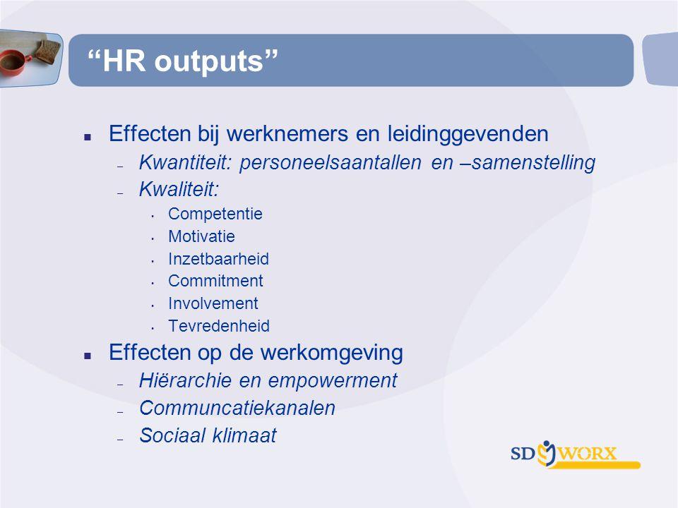 HR outputs Effecten bij werknemers en leidinggevenden