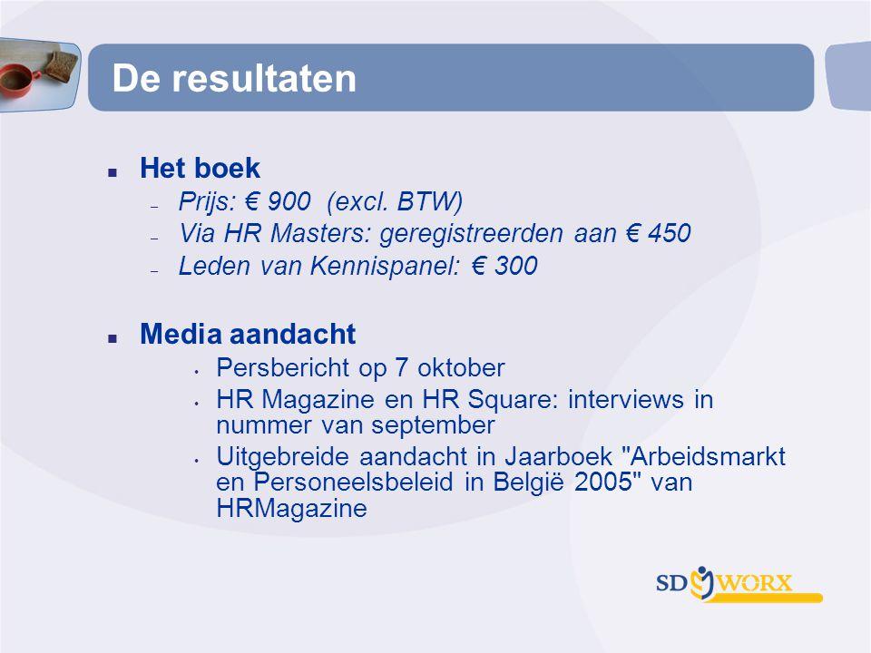 De resultaten Het boek Media aandacht Prijs: € 900 (excl. BTW)