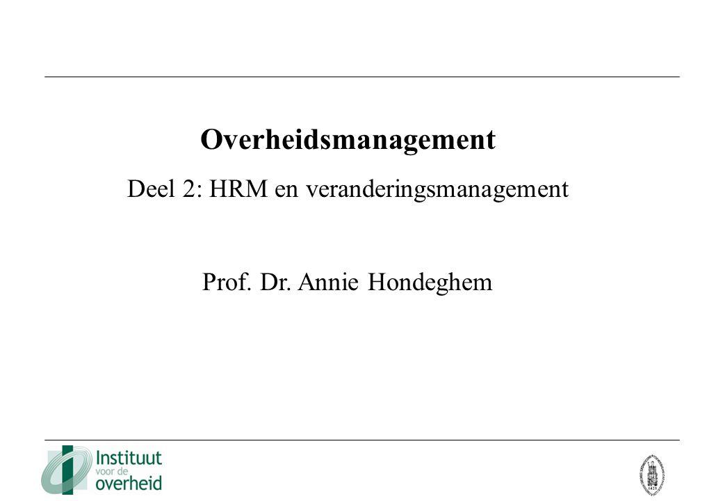 Overheidsmanagement Deel 2: HRM en veranderingsmanagement