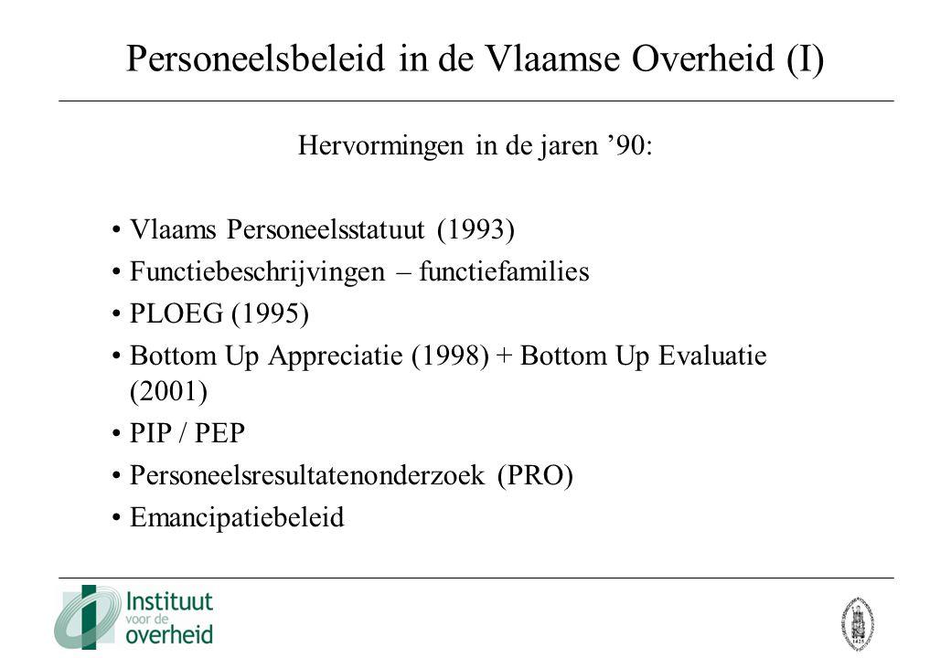 Personeelsbeleid in de Vlaamse Overheid (I)