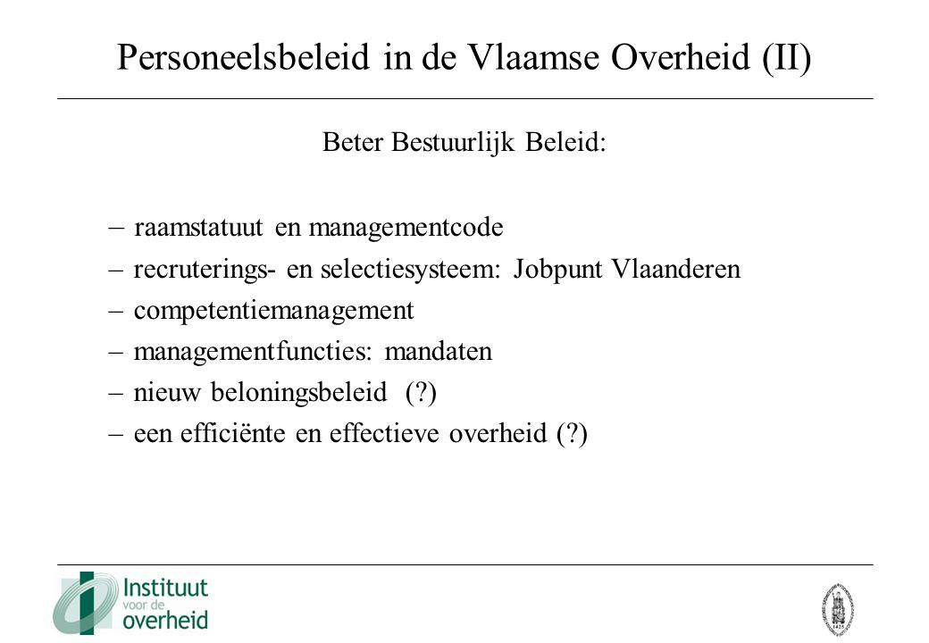 Personeelsbeleid in de Vlaamse Overheid (II)