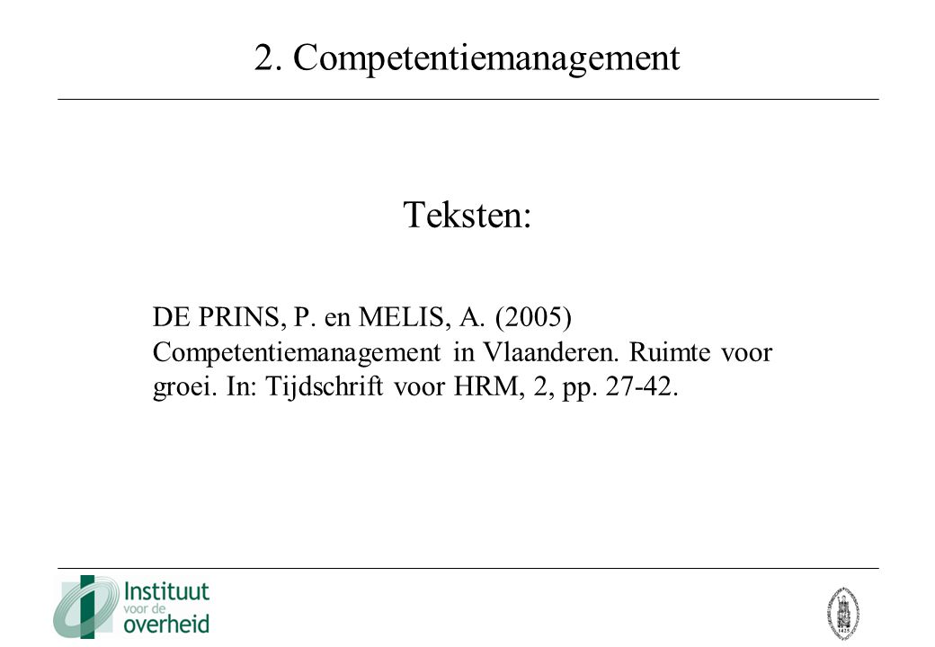 2. Competentiemanagement
