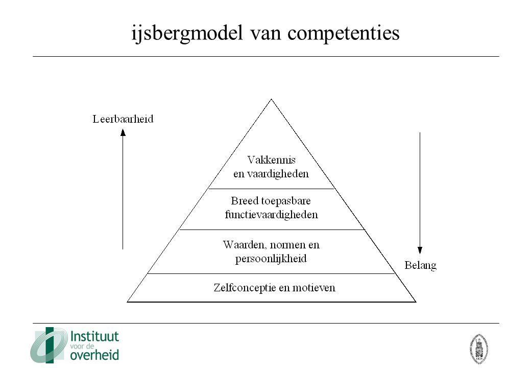 ijsbergmodel van competenties