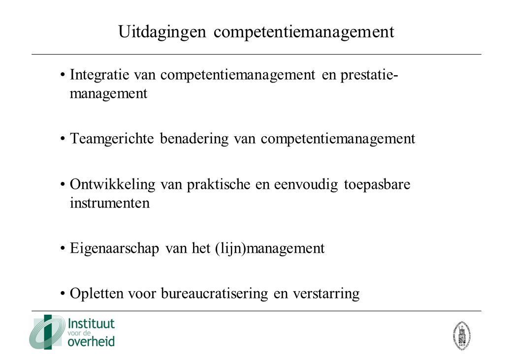 Uitdagingen competentiemanagement