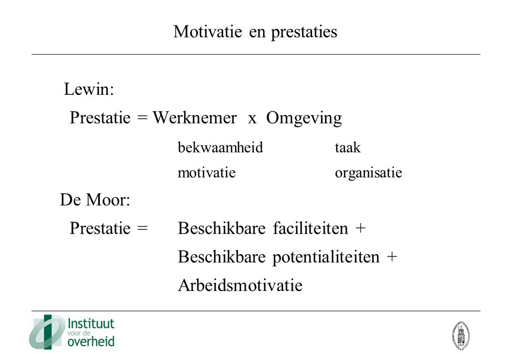 Motivatie en prestaties