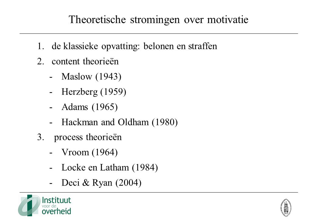 Theoretische stromingen over motivatie