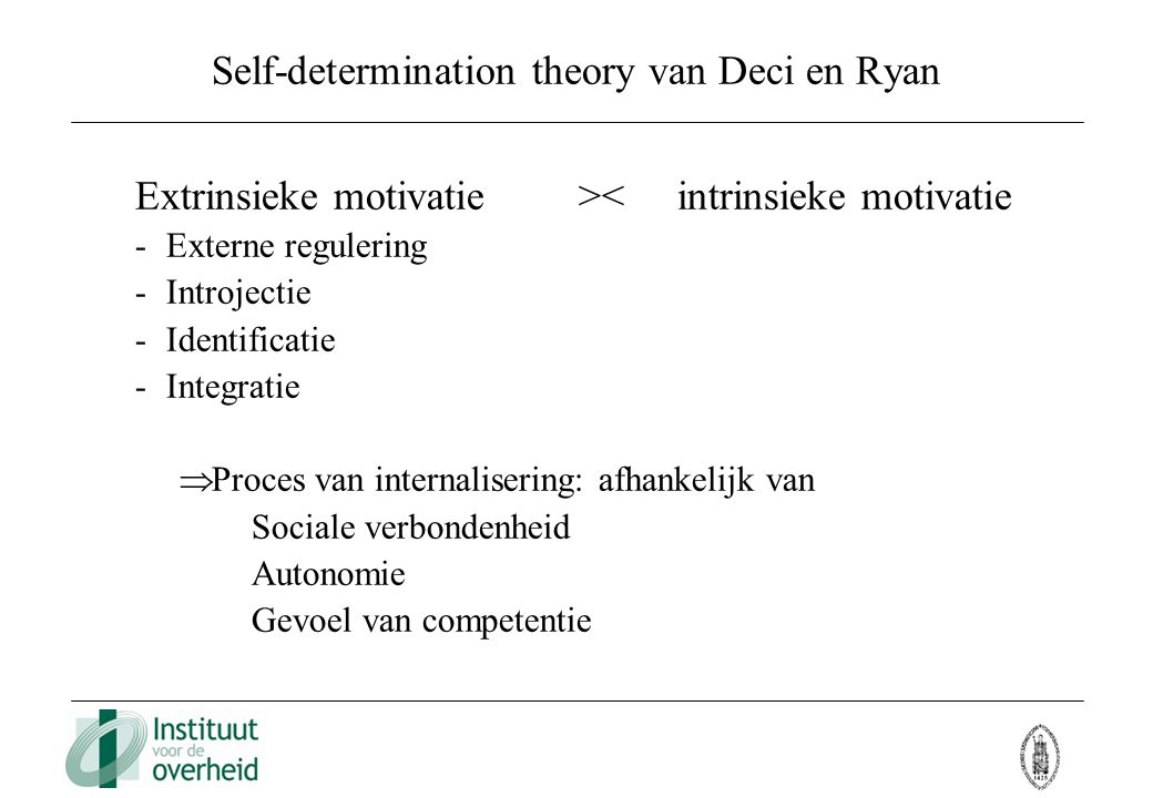 Self-determination theory van Deci en Ryan
