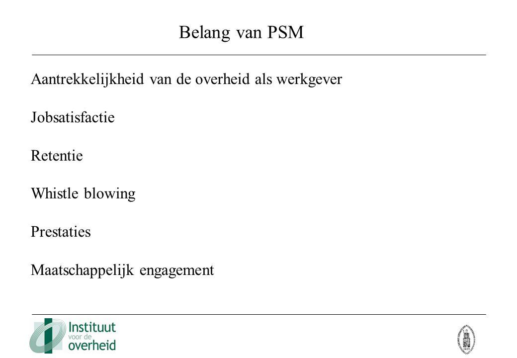 Belang van PSM Aantrekkelijkheid van de overheid als werkgever