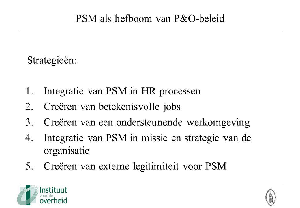 PSM als hefboom van P&O-beleid