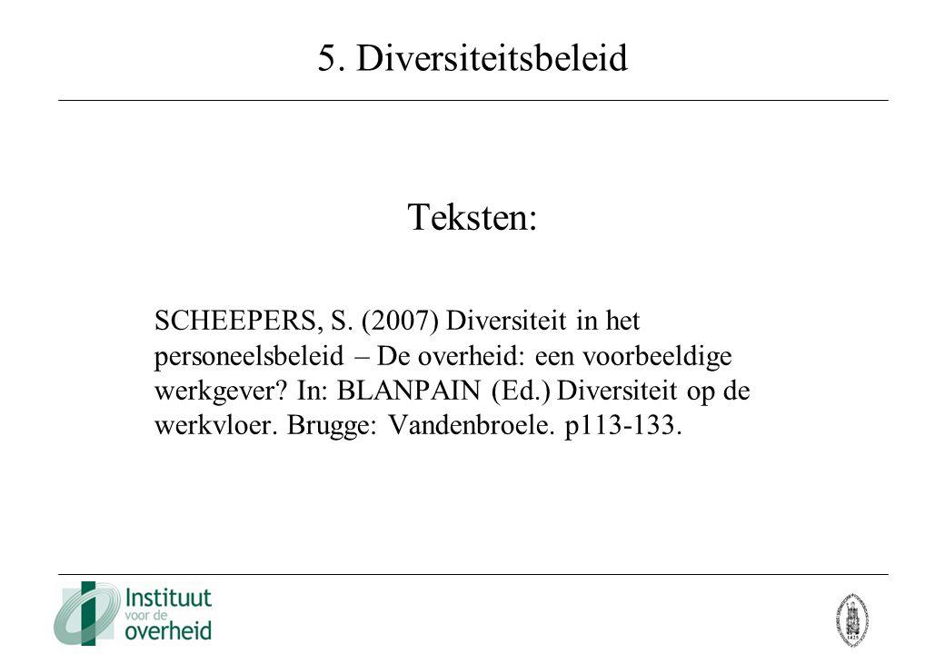 5. Diversiteitsbeleid Teksten: