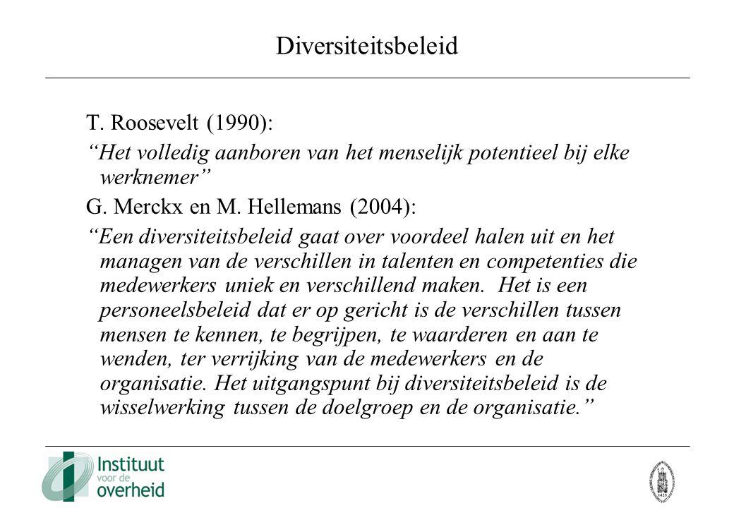 Diversiteitsbeleid T. Roosevelt (1990):