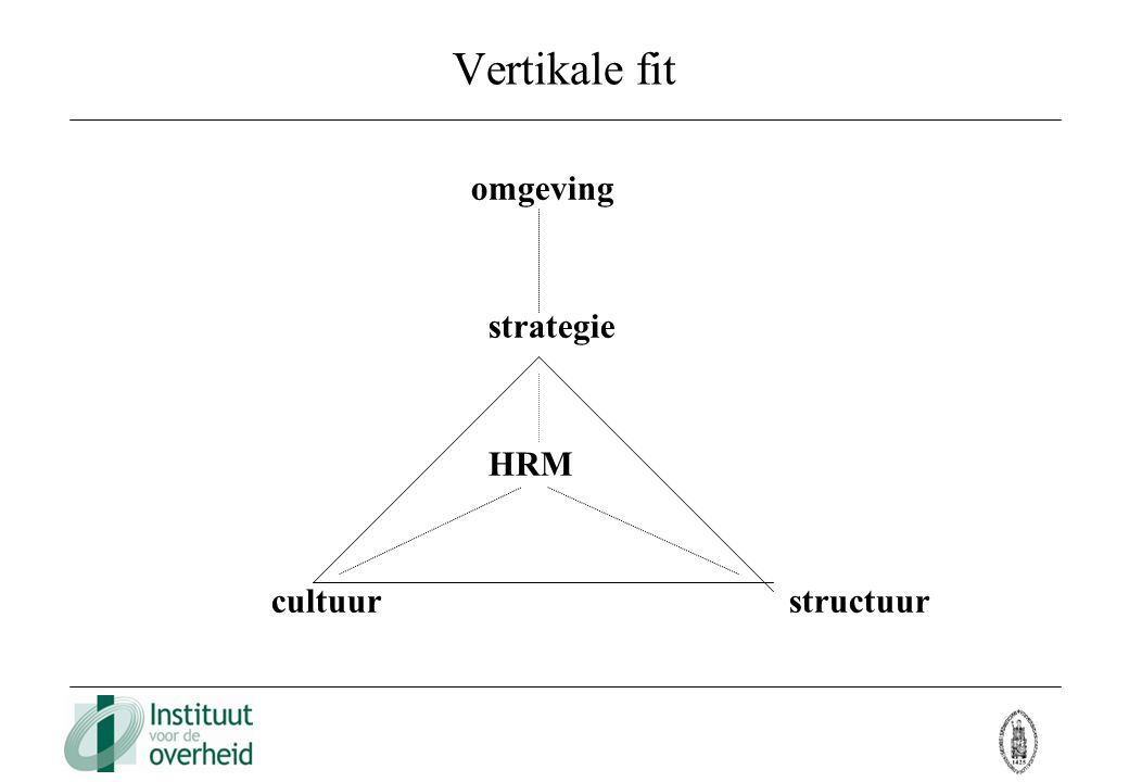 Vertikale fit omgeving. strategie. HRM.