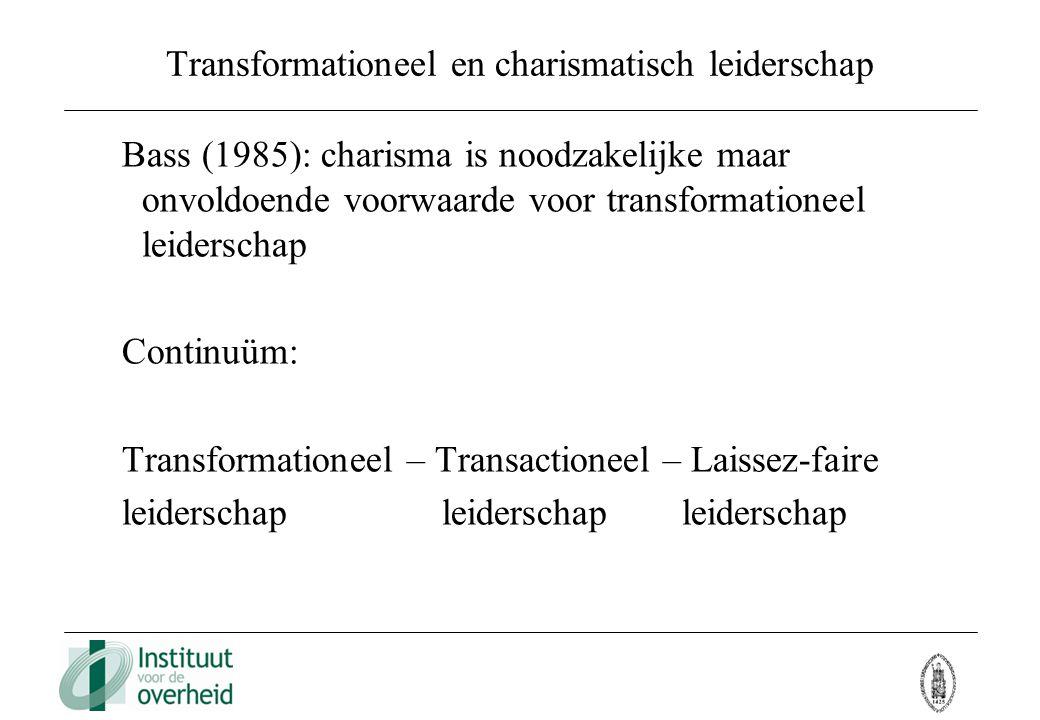 Transformationeel en charismatisch leiderschap
